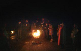 Rauhnächte Feuer im Hof